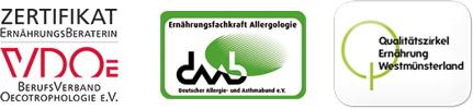 Ernährungsberaterin VDO, Ernährungsfachkrafr Allergologie, Qualitätszirkel Ernährung Westmünsterland